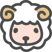 かわいい羊(ひつじ)のアイコンイラスト