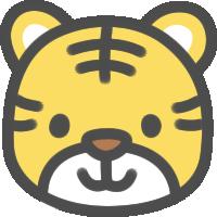 かわいい虎(とら)のアイコンイラスト