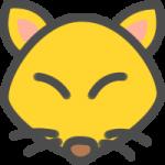かわいい狐(きつね)のアイコンイラスト素材