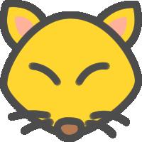 狐(きつね)のアイコンイラスト