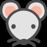 かわいい鼠(ねずみ)のアイコンイラスト素材