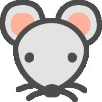 鼠(ねずみ)のアイコンイラスト