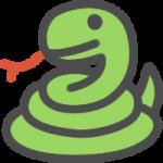 かわいい蛇(へび)のアイコンイラスト素材