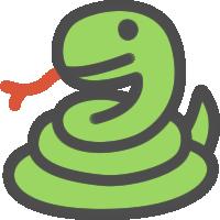 蛇(へび)のアイコンイラスト