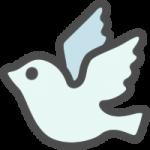 かわいい鳩(はと)のアイコンイラスト素材