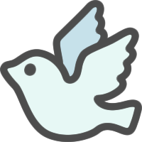 鳩(はと)のアイコンイラスト