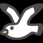 かわいい鴎(かもめ)のアイコンイラスト素材