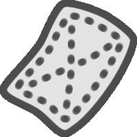 雑巾(ぞうきん)のアイコンイラスト