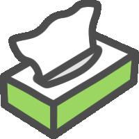 ティッシュボックス(箱ティッシュ)のアイコンイラスト