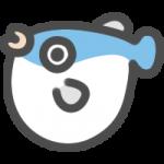 河豚(ふぐ)のアイコンイラスト