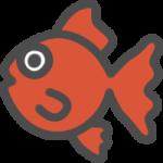 金魚のアイコンイラスト