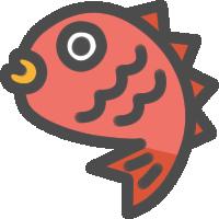 鯛(たい)のアイコンイラスト