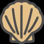 帆立貝(ホタテガイ)のアイコンイラスト