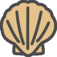 帆立貝のアイコンイラスト