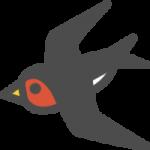 燕(つばめ)のアイコンイラスト