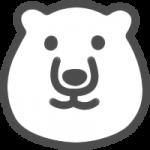 かわいい白熊(しろくま)のアイコンイラスト