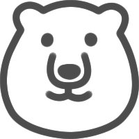 かわいい白クマのアイコンイラスト