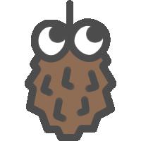 蓑虫(みのむし)のアイコンイラスト