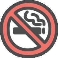 禁煙マークのアイコンイラスト