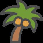 椰子(やし)の木のアイコンイラスト