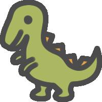 恐竜のアイコンイラスト
