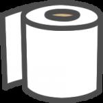 トイレットペーパーのアイコンイラスト