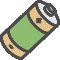 乾電池のアイコンイラスト