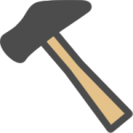 金槌(かなづち)のアイコンイラスト