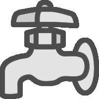 水道の蛇口のアイコンイラスト