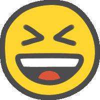 ニコちゃんマーク(大笑い)