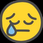 ニコちゃんマーク(悲しい涙)