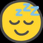 ニコちゃんマーク(寝顔)