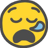 ニコちゃんマーク(あくび・居眠り)