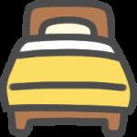 ベッドのアイコンイラスト
