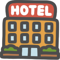 ホテルのイラストアイコン