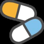カプセルに入った薬のアイコンイラスト