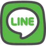 LINE(ライン)ロゴのかわいい手書き風イラストアイコン