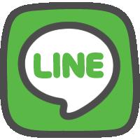 LINE(ライン)ロゴの手描きアイコン