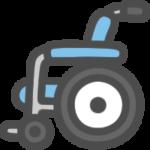 車椅子のイラストアイコン